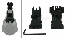 Polymer Flip-up Front and Rear Sight - Black