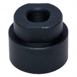 """Black Anodized Aluminum 1/2""""x28 Cleaning Patch Trap Muzzle Adapter Soda Pop Bottles"""