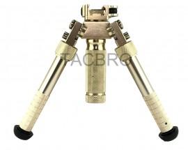 """Gold Tactical Bipod Quick Detach Mount 6.5""""-9"""" Adjustable Fit Picatinny Rail"""